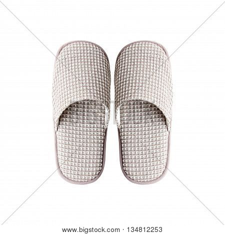Slippers top view isolated on white background