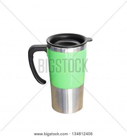 The Aluminum mug isolated on white background