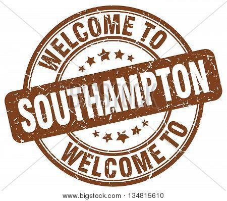 welcome to Southampton stamp. welcome to Southampton.