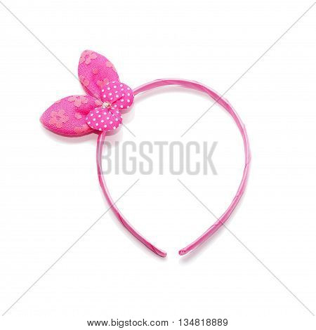 The headband isolate on white background. pink color