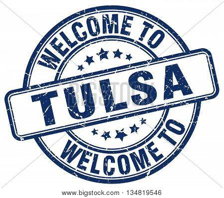 welcome to Tulsa stamp. welcome to Tulsa.