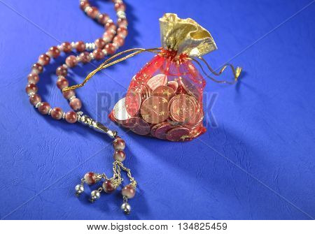 Eidy - a custom to distribute money to kids during Eid festival.Eid festive symbolic gift.