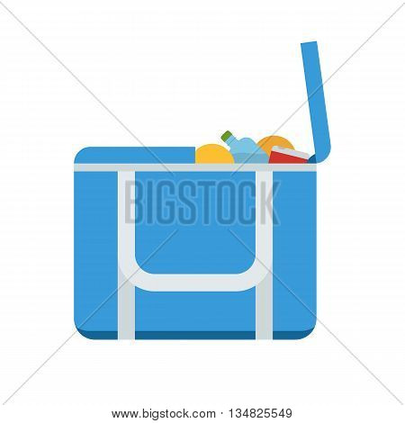 Tourist Freezer Bag Or Lunch Box Vector Icon