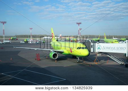 MOSCOW, RUSSIA - APRIL 30, 2016: The Airbus A319-100 (VP-BHP) S7 Airlines (