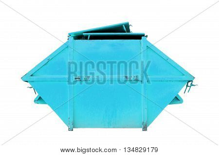 Industrial Waste Bin (dumpster) for municipal waste or industrial waste isolated on white backgroundwith clipping path