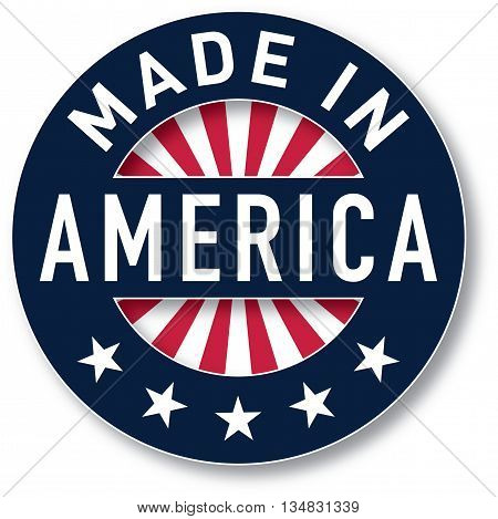 Made in America vector. Pantone colors were used.