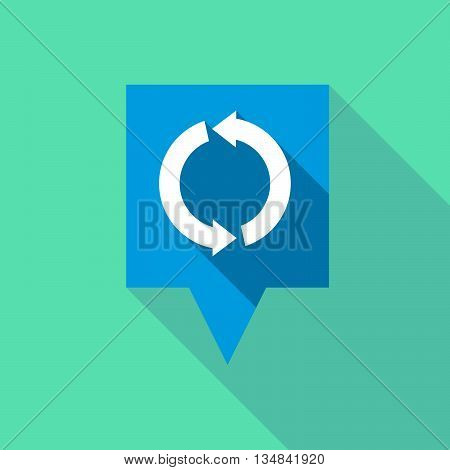 Long Tooltip Icon With A Round Recycle Sign