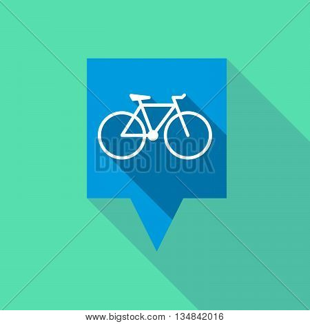 Long Tooltip Icon With A Bicycle