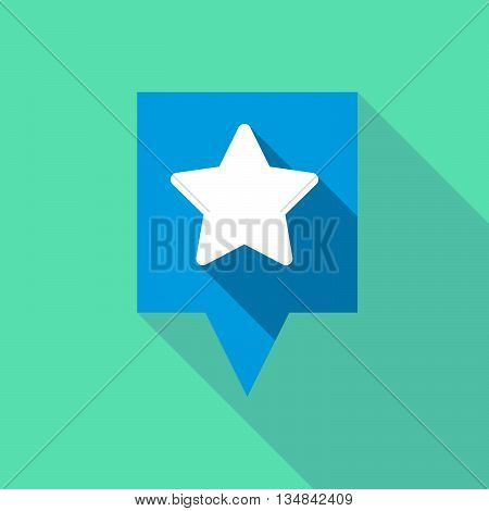 Long Tooltip Icon With A Star