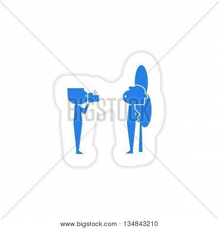 icon sticker realistic design on paper friends Photo