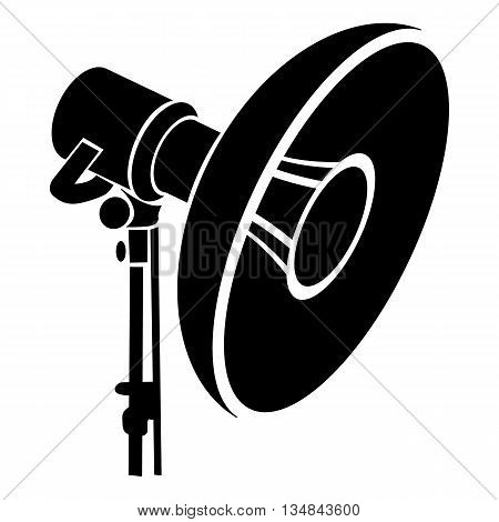 Professional studio light icon in simple style on a white background