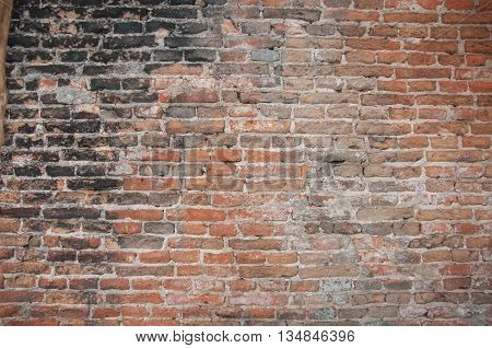 Old red brick wall texture grunge background