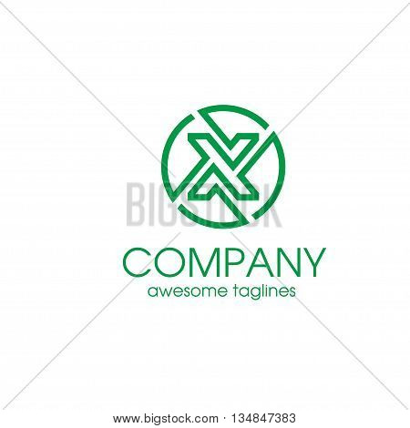 Letter X circle Simple and elegant Alphabetical Logo Design Concepts