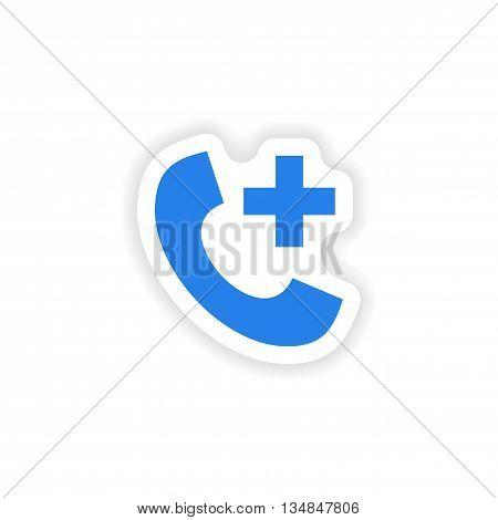 icon sticker realistic design on paper Hotline Hospital