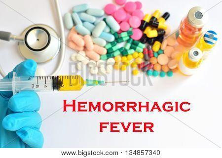 Syringe with drugs for hemorrhagic fever treatment