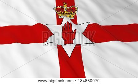 Northern Irish Ulster Flag Hd Background - Ulster Flag Of Northern Ireland 3D Illustration