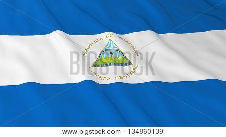 Nicaraguan Flag Hd Background - Flag Of Nicaragua 3D Illustration
