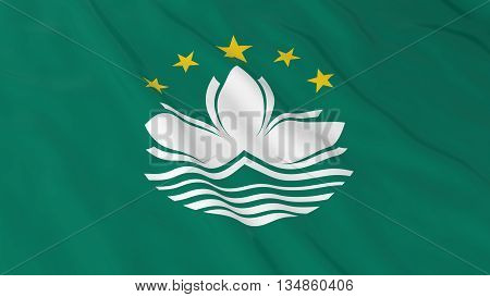 Macanese Flag Hd Background - Flag Of Macau 3D Illustration
