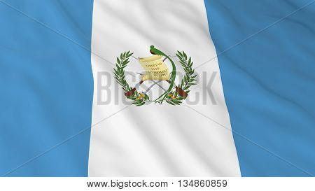 Guatemalan Flag Hd Background - Flag Of Guatemala 3D Illustration