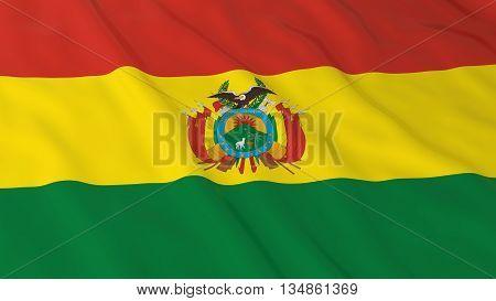 Bolivian Flag Hd Background - Flag Of Bolivia 3D Illustration