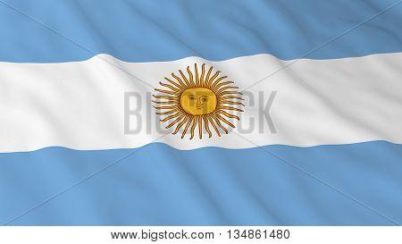 Argentinian Flag Hd Background - Flag Of Argentina 3D Illustration