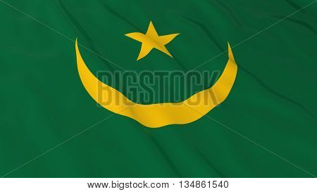Mauritanian Flag Hd Background - Flag Of Mauritania 3D Illustration
