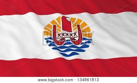 Tahitian Flag Hd Background - Flag Of Tahiti 3D Illustration