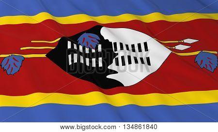 Swazi Flag Hd Background - Flag Of Swaziland 3D Illustration