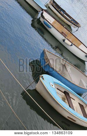 Abstract angled Colourfull Boat Scene Dorset England