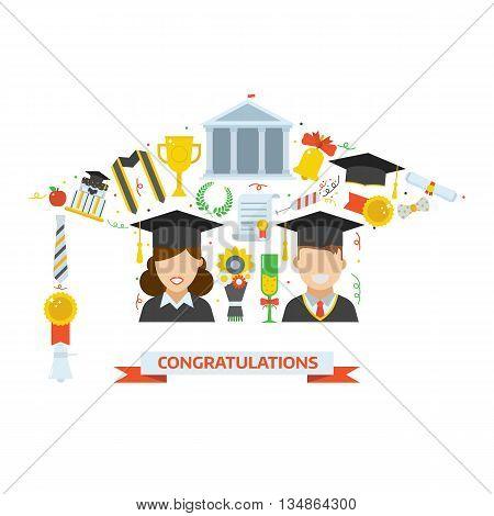 Graduation Award Elements Concept