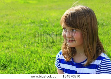 portrait of the sympathetic girl with smile