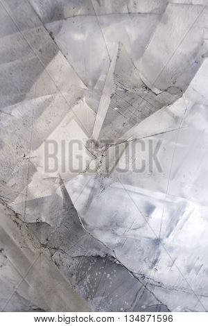 Calcite crystal mineral stone background. Close up