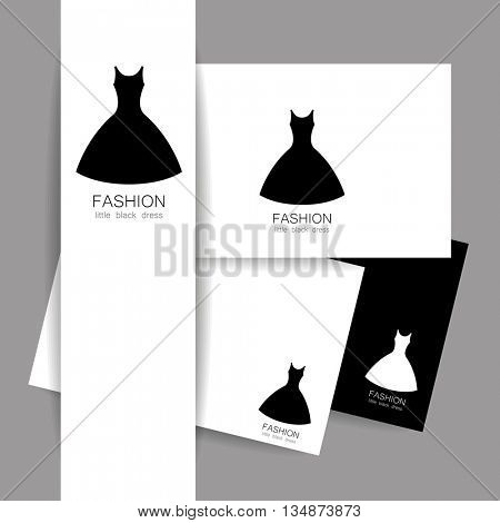 Fashion logo template. Concept identity presentation design for fashion shop, boutique, factory on tailoring, fashion show, dress shop, and etc. Vector graphic illustration.