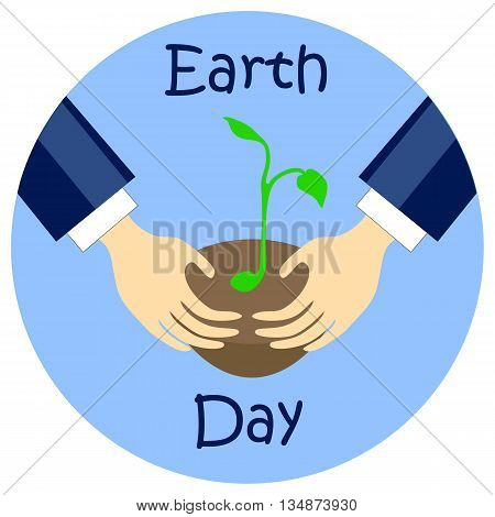 Earth day flat style vector illustration, earth day picture
