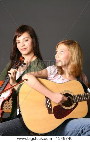 Girls With Musical Instruments
