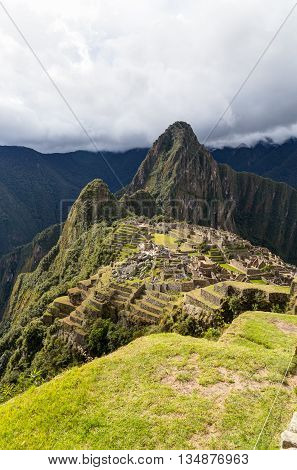 HDR Machu Pichu late afternoon with clouds