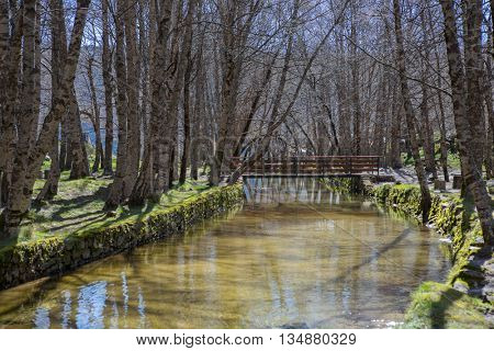 Covao d'ametade in the Serra da Estrela Natural Park. Portugal