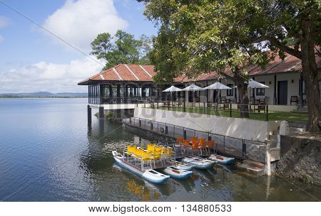 POLONNARUWA, SRI LANKA - MARCH 15, 2015: Restaurant and guesthouse