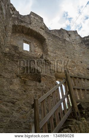 worth seeing remnants of the ruins Waxenberg in Austria