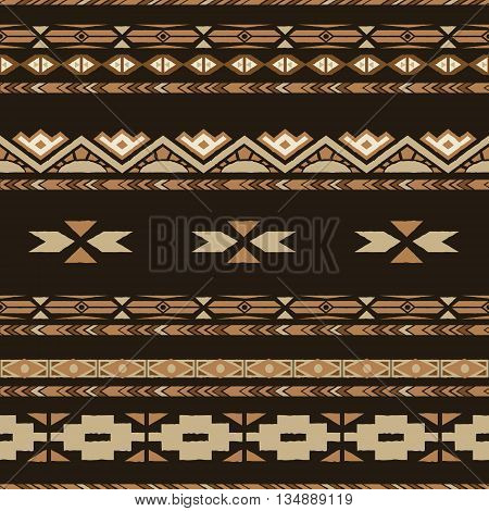 Ethnic seamless pattern with tribal motives. Ethnic stylized abstract background . Aztec pattern.Vector seamless background with folk elements .