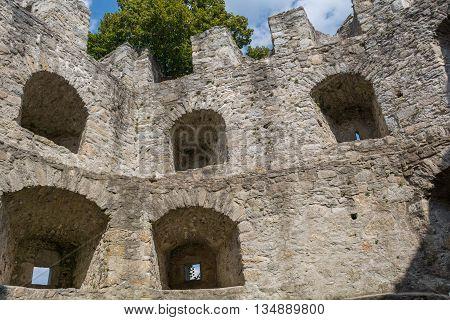 cultural building worth - castle ruin Waxenberg - Austria