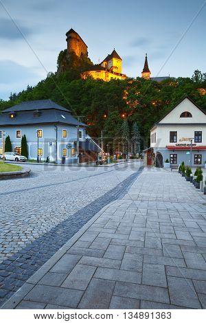 ORAVSKY PODZAMOK, SLOVAKIA - JUNE 10, 2016: View of Orava castle in northern Slovakia on June 10, 2016.