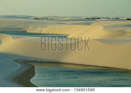 Lancois Maranhensis, a large plain of alternated sand dunes and fresh water lagunas