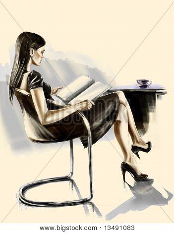 Lady Reading Magazine