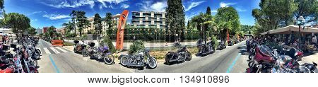 PORTOROZ SLOVENJA 18 june 2016 European Hog Rally 25th anniversary. A European Motorcycles event for Harley Davidson and Custom bikes.