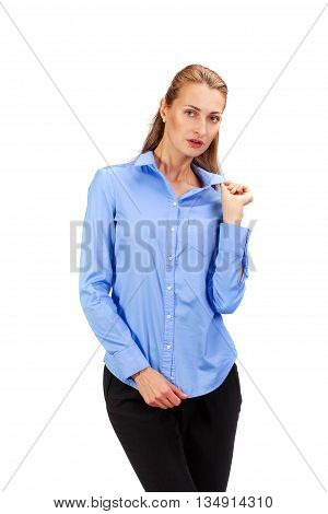 Happy Business Woman Isolated