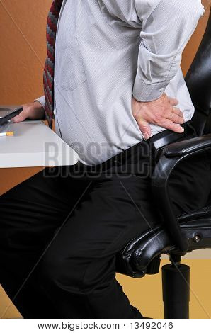 Back pain while working at the office