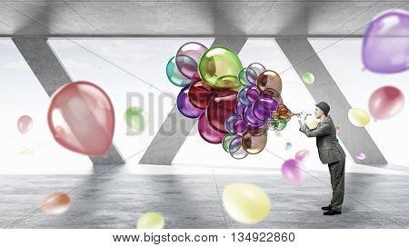 Comedian man play fife