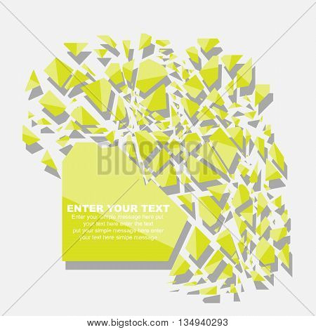 CRUSHED ELEMENTE TEMPLATE MESSAGE STICKER FIFTH EDITION YELLOW