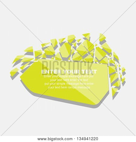 CRUSHED ELEMENTE TEMPLATE MESSAGE STICKER FOURTH EDITION YELLOW